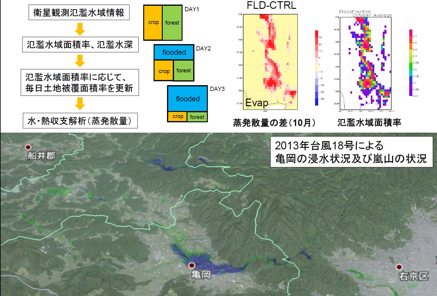 陸面過程モデルへの衛星観測氾濫水域情報の導入